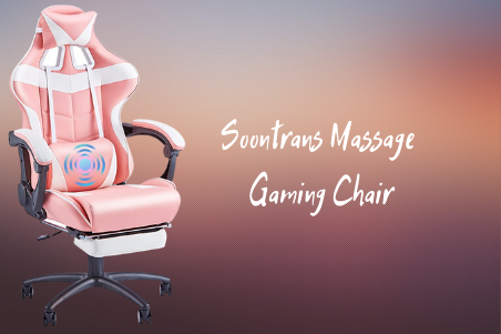 Soontrans Massage Pink Gaming Chair