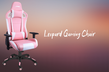 Leopard Pink Gaming Chair