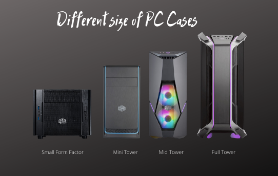 different size of pc cases